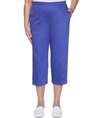 alfred dunner costa rica lattice-cuff capri pants
