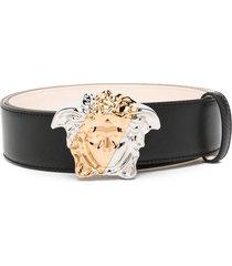 versace palazzo dia leather belt - black