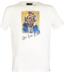 lardini organic cotton t-shirt with a cuba print
