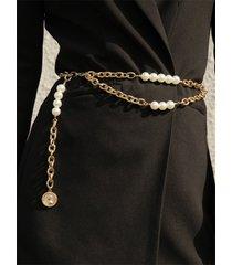 cadena de cuerpo de cinturón de perlas simple