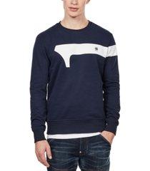g-star raw men's geometric logo sweatshirt, created for macy's