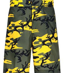 nylon camouflage bermuda-shorts