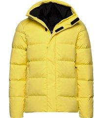 barrell stretch down jacket gevoerd jack geel j. lindeberg