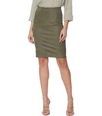 women's nydj sculpt-her(tm) coated pencil skirt, size xx-small - green