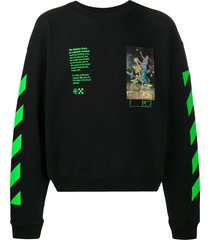 off-white pascal painting sweatshirt - black