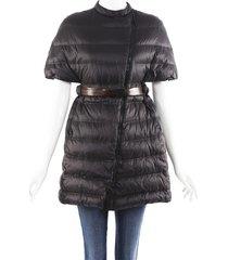 brunello cucinelli belted nylon puffer jacket
