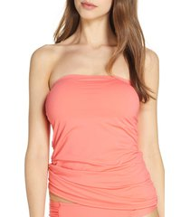 women's tommy bahama pearl bandini tankini top, size small - coral