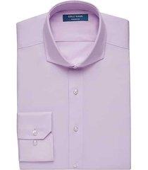 cole haan men's grand.øs pink slim fit dress shirt - size: 17 32/33