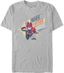 marvel men's captain marvel higher, further, faster captain short sleeve t-shirt