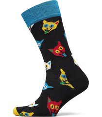 cat sock underwear socks regular socks svart happy socks