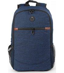 bolso maleta morral tokio con salida de audifonos bolsillos - azul oscuro