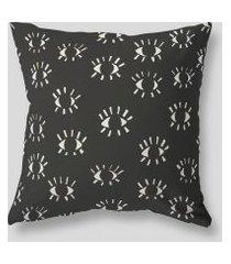 amaro feminino design up living capa de almofada p&b 42x42, preto