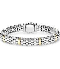 lagos caviar rope bracelet, size medium in silver at nordstrom
