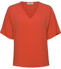 casa top blouses short-sleeved rosa modström
