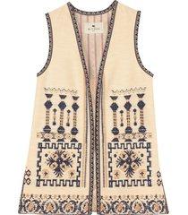 etro jacquard cotton waist coat