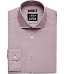 joe joseph abboud repreve® burgundy stripe slim fit dress shirt