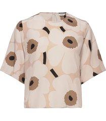 jokos pieni unikko ii shirt blouses short-sleeved beige marimekko
