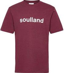 chuck t-shirt t-shirts short-sleeved röd soulland