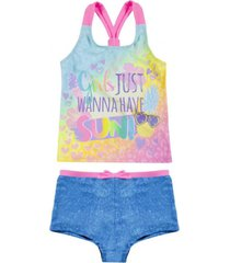 tankini uv30 estampado degradé y short denim h2o wear