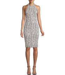 likely women's python print sheath dress - grey - size 0