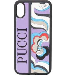 emilio pucci x koché abstract-print iphone x phone case - purple