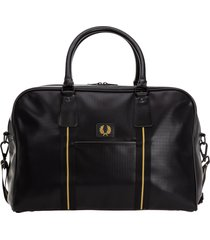 fred perry barrel duffle bag