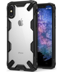 estuche protector ringke fusion-x iphone xs - borde negro
