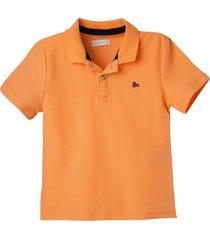 camiseta polo naranja  offcorss