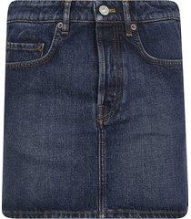 balenciaga classic denim skirt
