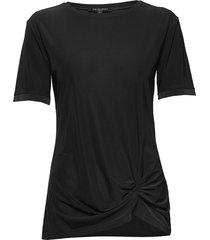 blouse t-shirts & tops short-sleeved zwart ilse jacobsen