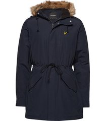 winter weight microfleece lined parka parka jacka blå lyle & scott