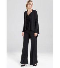 natori matte jersey cardigan coat, women's, black, size s natori