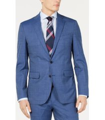 cole haan men's grand. os wearable technology slim-fit stretch pin-dot jacket
