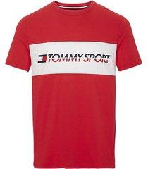 tommy hilfiger heren t-shirt logo driver - rood