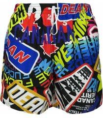 costume da bagno boxer con scritte
