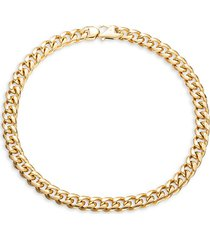 """eye candy la women's luxe luther 18k goldplated titanium braided chain-link necklace/14"""""""