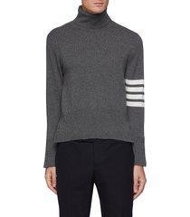 four bar stripe armband turtleneck cashmere sweater