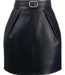 alexandre vauthier belted mini skirt - blue