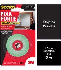 fita adesiva dupla face scotch 3m com espuma uso externo 24mmx2m