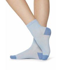 calzedonia - fancy patterned socks, one size, light blue, women