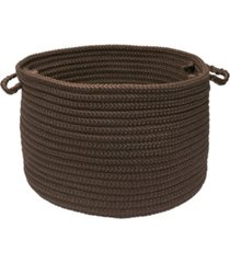 simply home solid braided storage basket