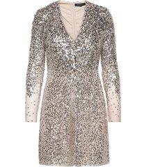 emille sparkle short dress kort klänning silver french connection