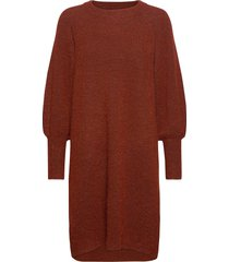 slfsif kaya ls knit dress o-neck b gebreide trui rood selected femme