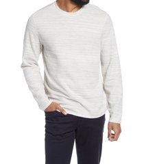 men's vince thermal crewneck pullover, size large - ivory
