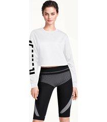 pullovers & turtlenecks logo cropped sweater