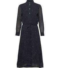 d2. fairly dot chiffon dress knälång klänning blå gant