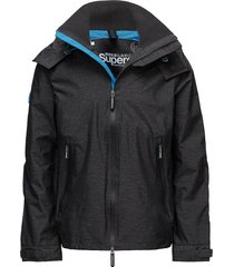 hooded technical cliff hiker tunn jacka svart superdry