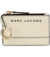 marc jacobs women's textured logo card holder - black