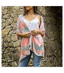 silk shawl, 'pale pink segara' (indonesia)