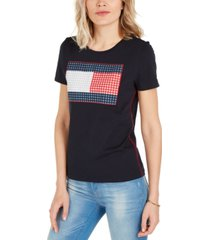 tommy hilfiger gingham flag t-shirt